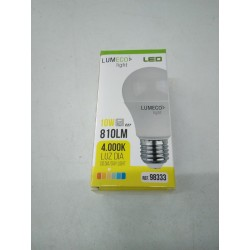 PACK 3 bombillas LED 10W .E27 luz dia.4000k.810lm