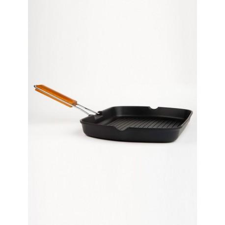 asadora ondulada 20x20cm VIER. válida toda clase de cocinas. alum. fundido