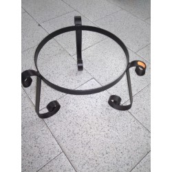 soporte de forja para macetas 30cm diám.-26cm alto