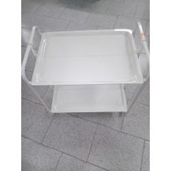 camarera plegable blanca 2 estantes.71cm de alto,65cm ancho,43 fondo.