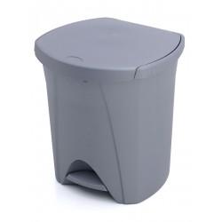 cubo basura pedal PLASTIKEN 25lt color grís