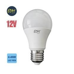 bombilla LED 12v E27 6400k. 10w. 810 lumens. para baterías